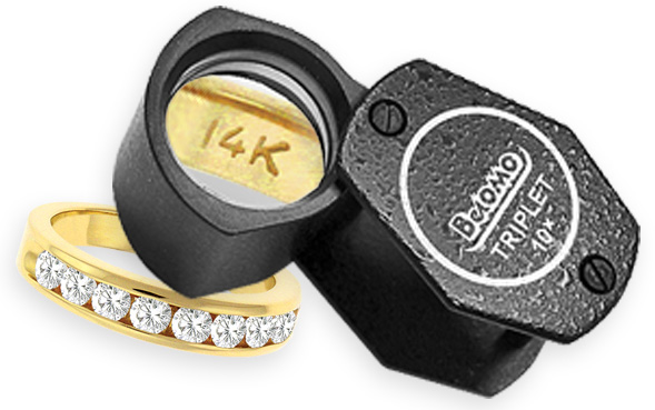 Loupe Your Jewelry For The Karat Stamp