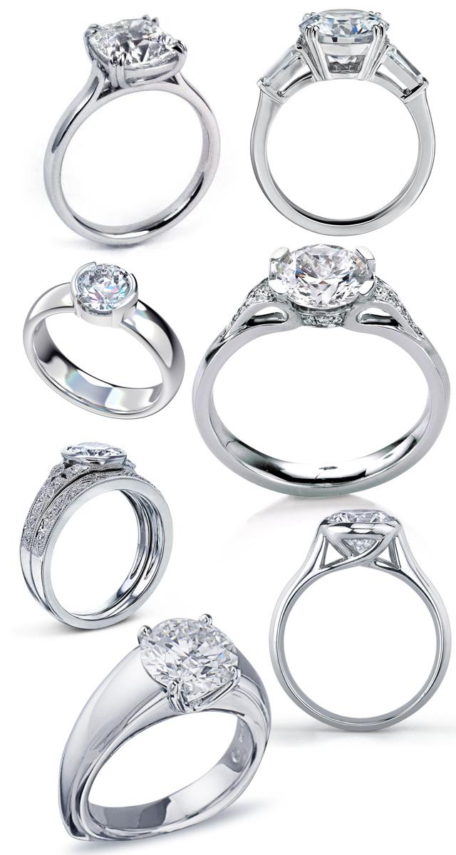 Low Profile Diamond Engagement Rings