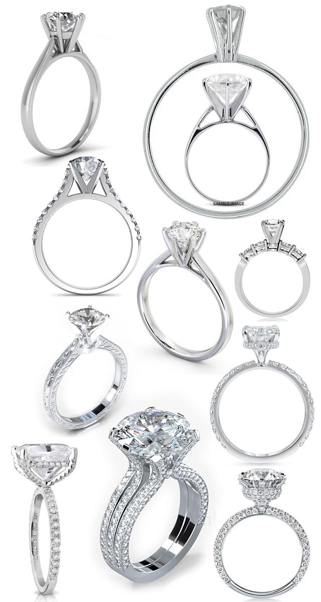 Tall Profile Diamond Engagement Rings