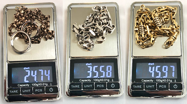 Weight Your Jewelry On A Digital Scale