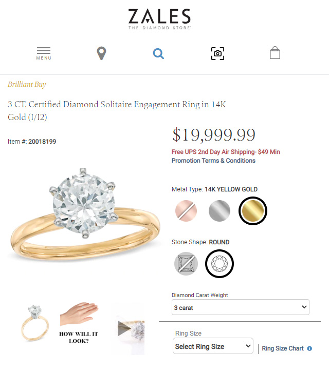 Zales Jewelers Biggest Diamond