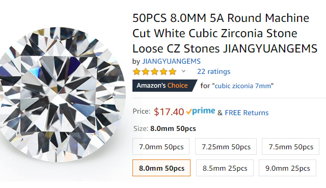 CZ Diamond On Amazon