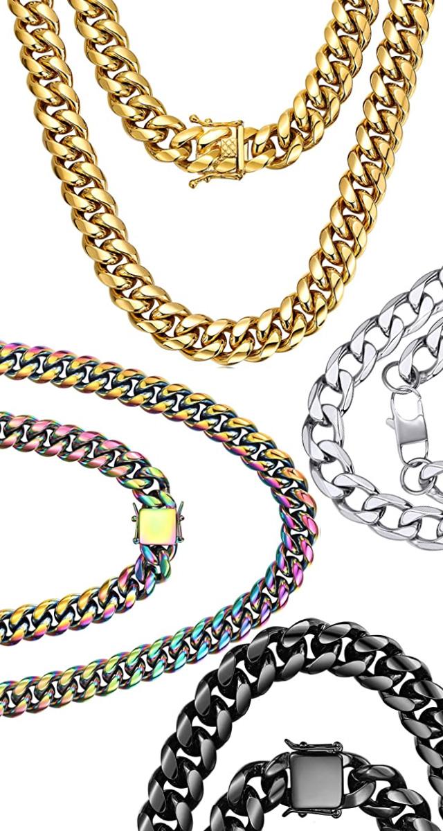 Hip-Hop Chunky Cuban Link Chains