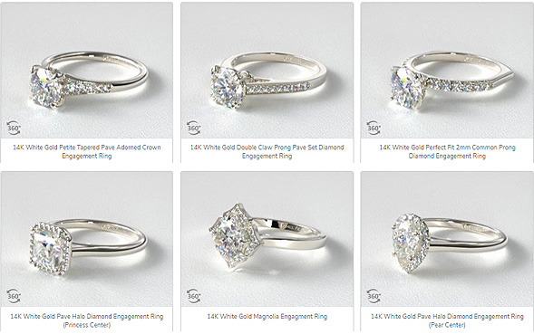 Pave And Halo Mountings