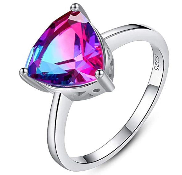 This Beautiful Crystal Sterling Silver Ring Is Just 15 Dollars With Free Shipping