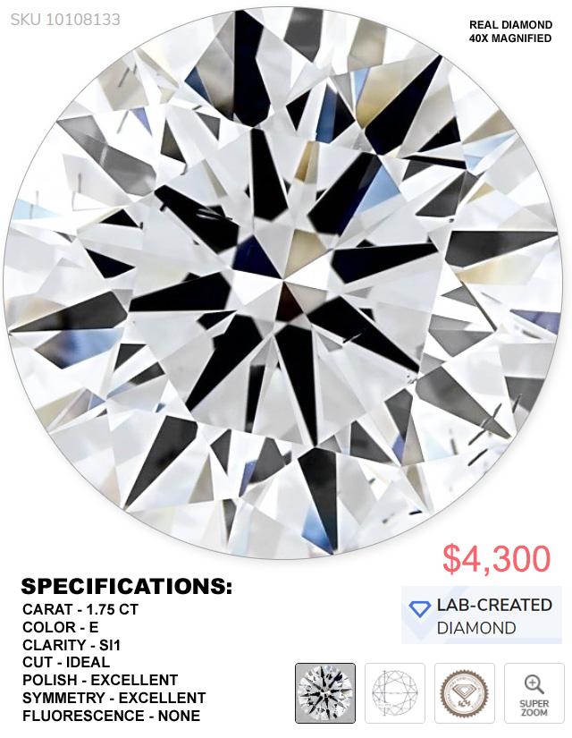 AN INSANE DEAL ON A HUGE LAB-GROWN DIAMOND
