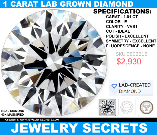 Top Of The Line Lab Grown 1 Carat Diamond For Less Than 3 Thousand