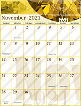Free November 2021 Calendar