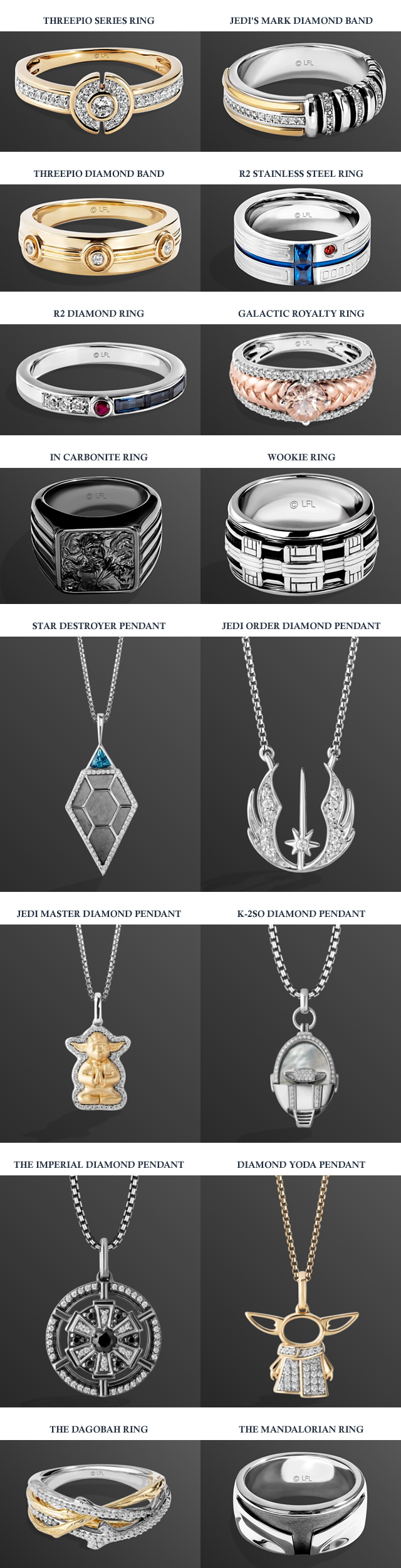 THE COOLEST STAR WARS JEWELRY THIS SIDE OF THE GALAXY