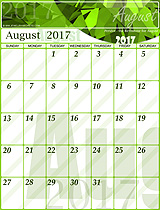 Free August 2017 Calendar