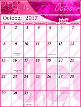Year 2017 Calendar - Time and Date