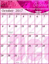 Free October 2017 Calendar
