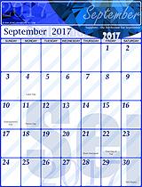 Free September 2017 Calendar